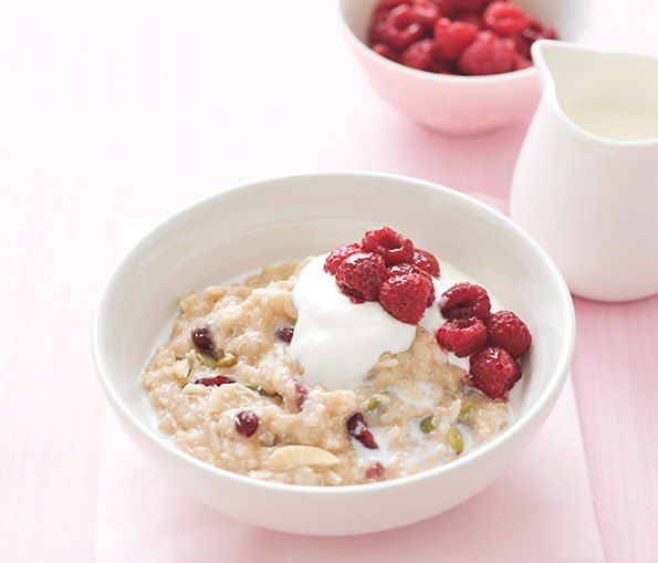 The soluble fibre in porridge helps to lower bad cholesterol.