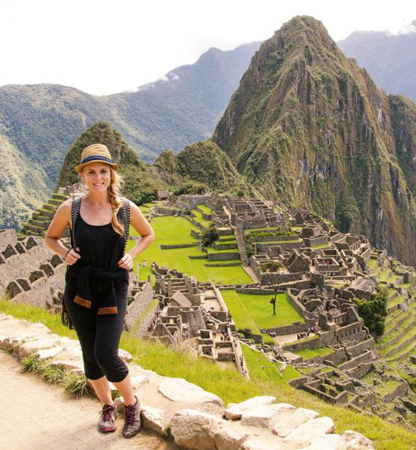 After working with the orphanage, Aidee explored the country, travelling to Machu Picchu.