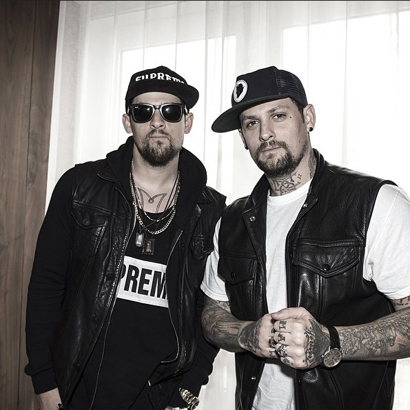 Benji with identical twin brother Joel Madden.