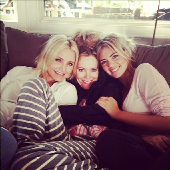 Cameron with her The Other Woman co-stars, Leslie Mann and Kate Upton.