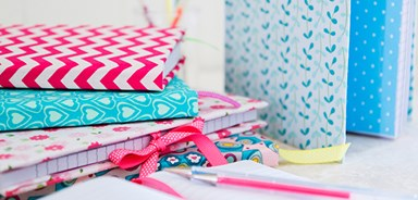 Craft: Fabric covered notebooks