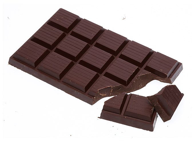 It may improve cholesterol  In one trial, ratios of good HDL cholesterol – compared to bad LDL cholesterol – improved in people who ate around 5g of dark chocolate a day.  Image: Sevak Babakhani/ bauersyndication.com.au