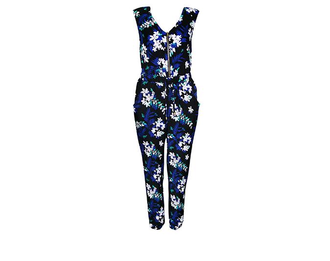 Floral jumpsuit  Kmart printed floral woven pantsuit, $30.