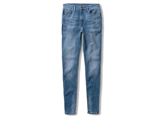 Mid-wash jeans  Levis straight leg jeans, $129.90.