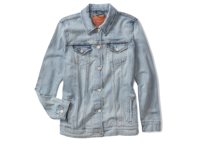 Jean jacket  Levis denim jacket, $149.90.