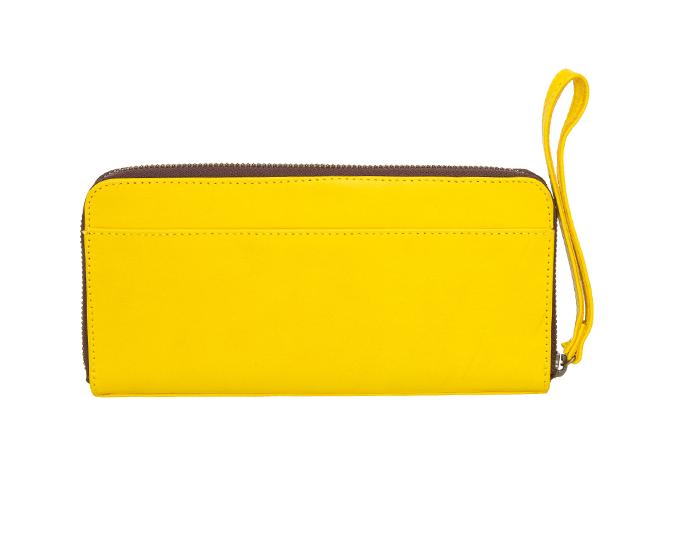 Stylish zip purse   Saben Bec Yellow purse, $250.