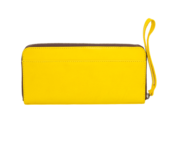 Stylish zip purse   Saben Bec Yellow purse, $250.