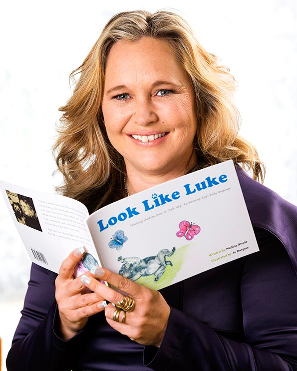 The dog trainer hopes her first book will be the first in a successful series.