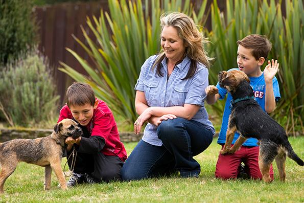 Nadine has her own dog training business, as well as a weekly newspaper column.