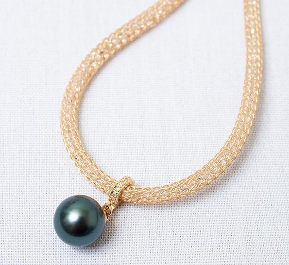 A Shahana Pearls necklace.