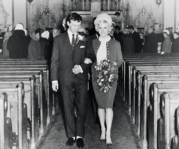 Margaret and Tommy on their wedding day.