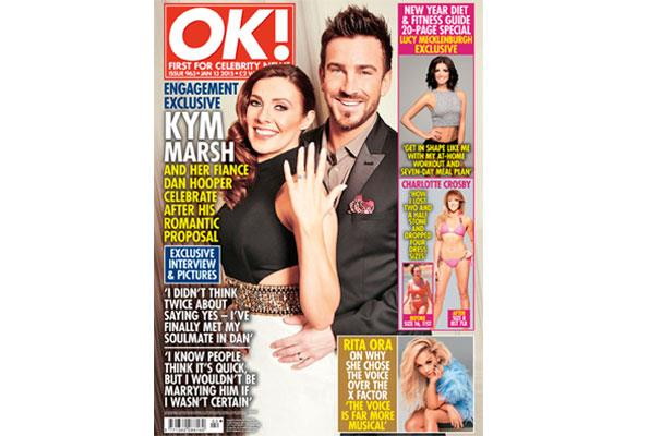 The couple were over the moon with their engagement, celebrating with a romantic shoot for OK! Magazine.
