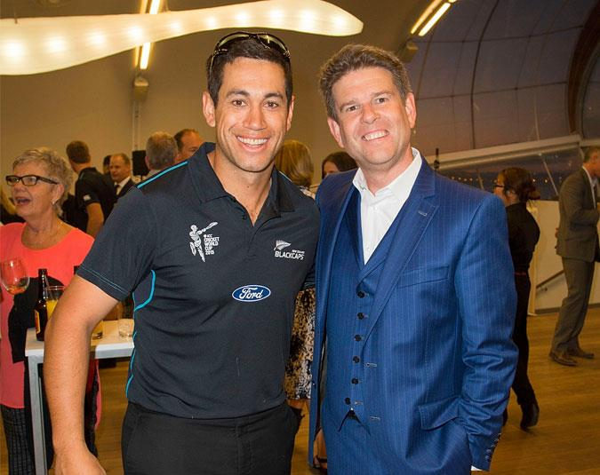 The presenter welcomed Ross Taylor and his fellow Black Caps home after their astonishing World Cup success.
