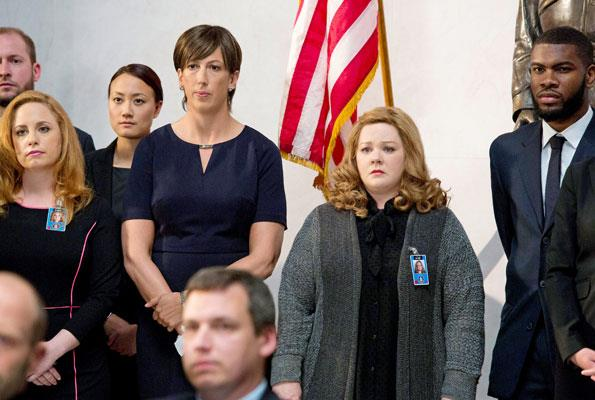 In her latest film, Spy, which also stars British comedienne Miranda Hart (left), Melissa plays a dowdy CIA analyst.