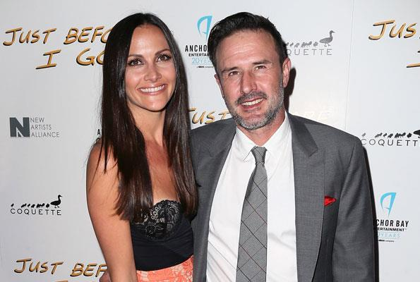 David married TV presenter Christina McLarty, who bears a striking resemblance to his former wife, in April this year.