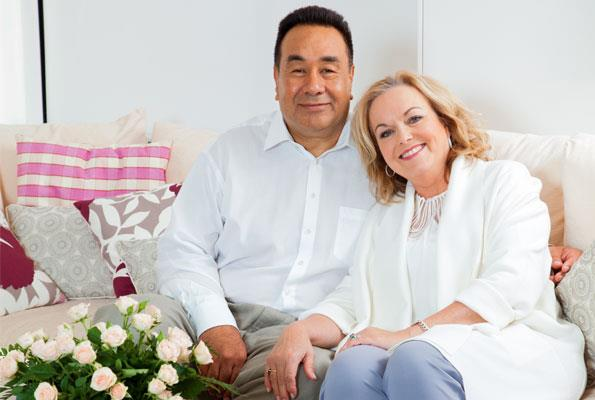 Judith, wearing her 30th anniversary gift of earrings, eloped with husband David because of opposition from her father.