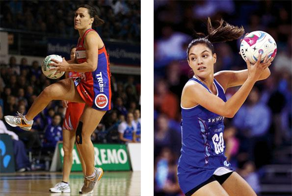 Left: Jenny-May played for the Mystics in 2010. Right: A delighted Katherine was called up to the squad last year.