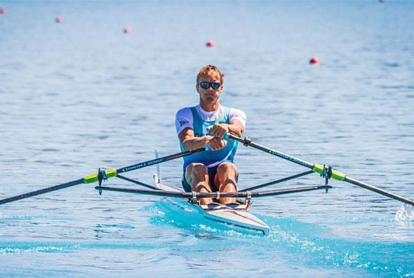 The champion rower has had to balance his commitment to his sport with family demands and being director of a start-up company.