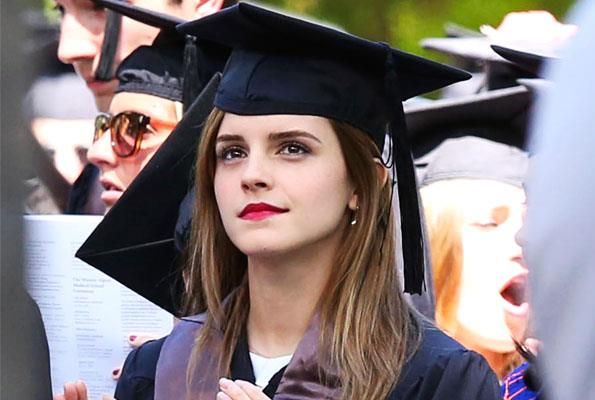 Emma put her degree on hold for *Harry Potter*, but says finishing her studies was worth the effort.