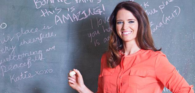 Dancing star Rebecca Nicholson has traded in the ballroom for the classroom.