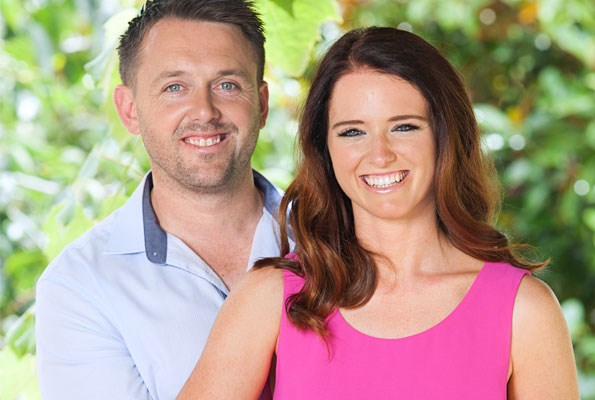 """Rebecca and her favourite dance partner in life, Glenn Higham, who gives her courage and """"believes in me""""."""