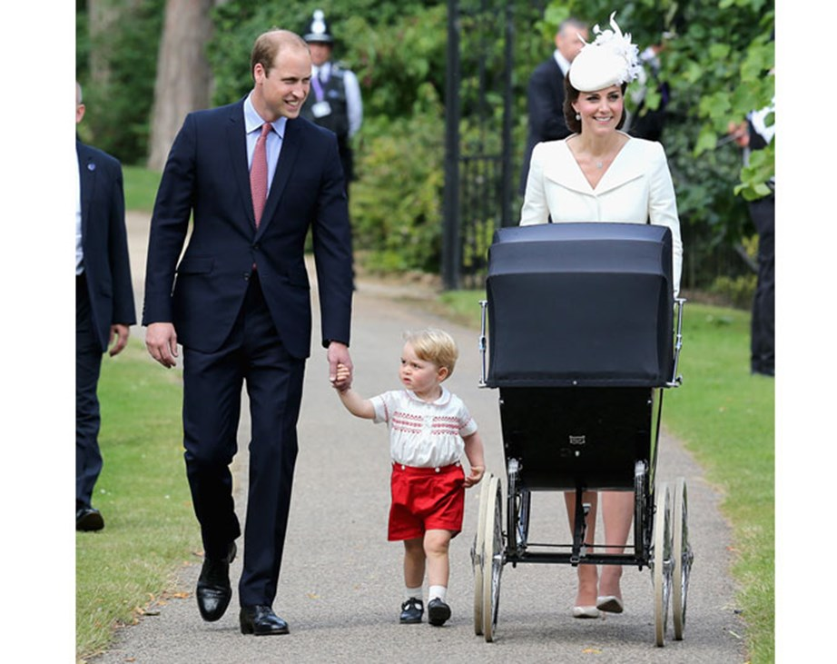 The Cambridges heading to Princess Charlotte's christening in 2015. *(Image: Getty)*