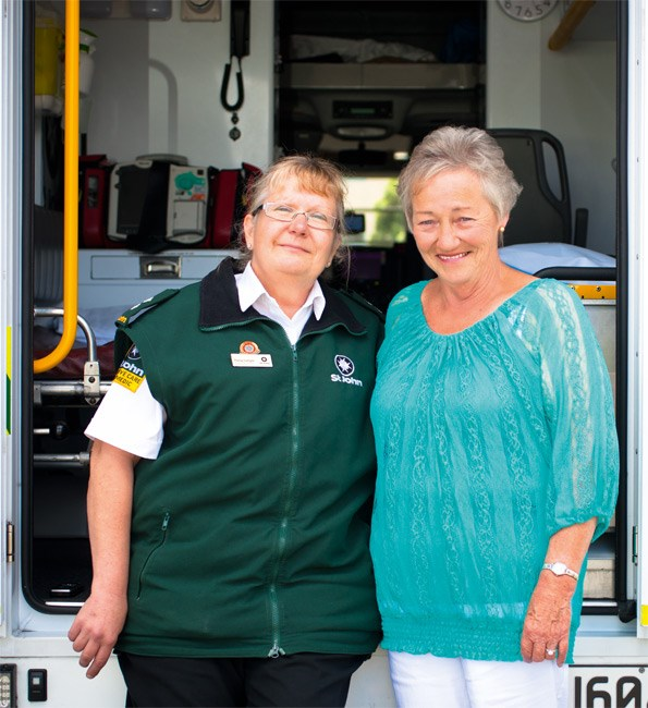 St John operations team manager, Patsy loved getting the chance to meet Helen in happier circumstances.