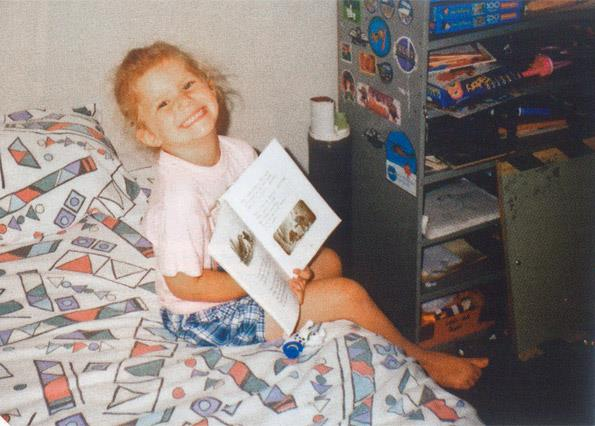 Christie loved to read as a young child.
