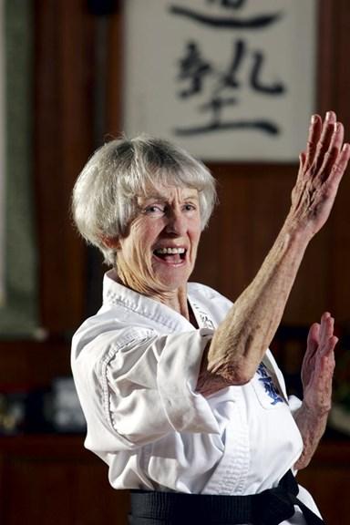 Gutsy grandma gets her kicks