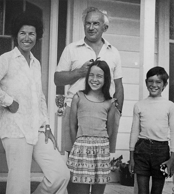 Valerie with Pat, Victoria and James in 1975, just months before Arthur Allan Thomas' trial and acquittal.