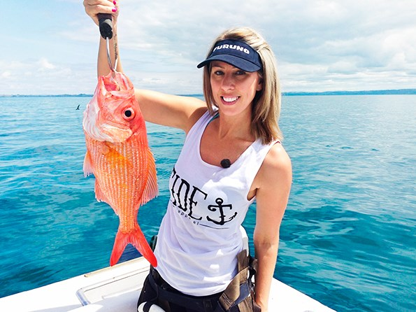 Reeling 'em in! Nicky gave up her 9 to 5 career and now has her own TV show.