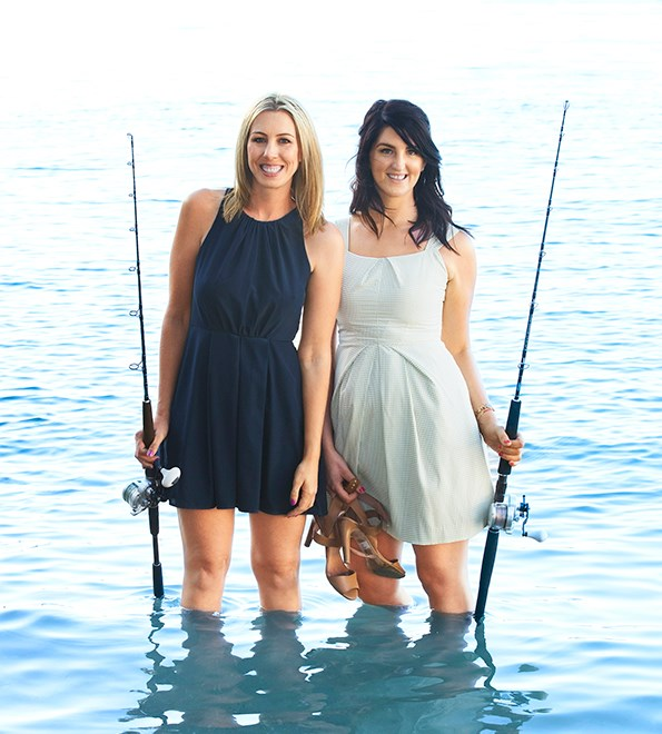 Nicky's pal Natalie says fishing is a great workout.