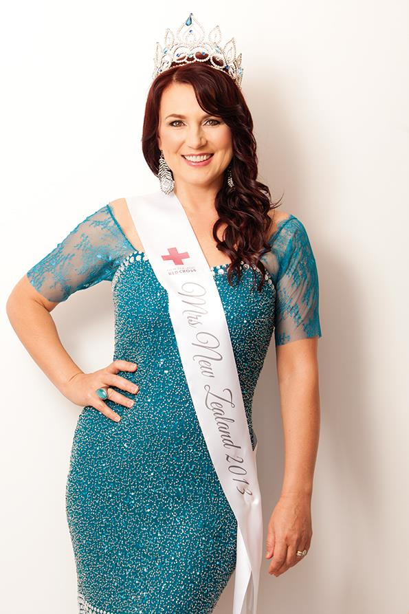 Aucklander Elena Turner who, at 45, is not a typical New Zealand beauty queen.