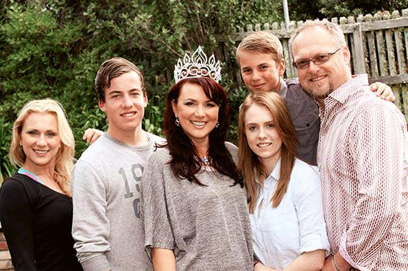 With her family (from left) Katrina, Harrison, Chelsea, Daniel and husband Alastair.
