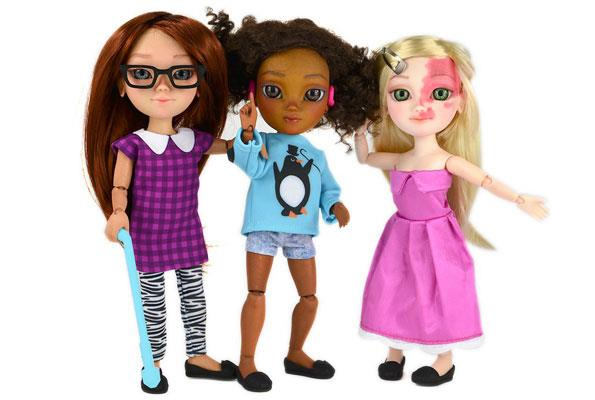 Doll manufacturer Makies has released a line of dolls with disabilities.