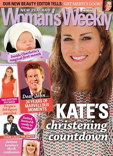 Duchess Kate's christening countdown