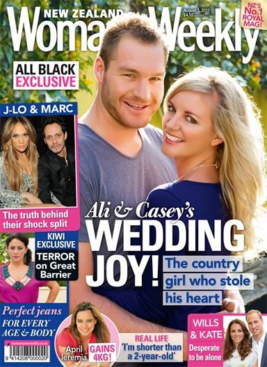 Ali Williams and Casey Green's wedding joy!
