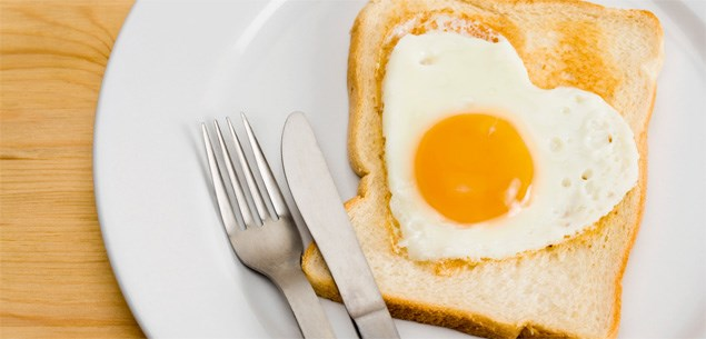 Genuine free range eggs and chicken - eggs on toast