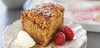 Anzac apple crunch cake