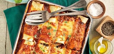 Chicken, ricotta & spinach cannelloni