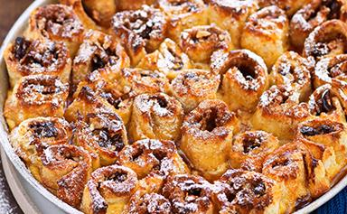 Sticky date and cinnamon bread and butter pudding