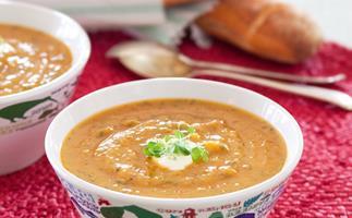 Kumara and watercress soup