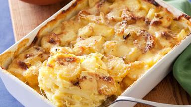 Potato and leek bake