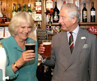 Camilla, Duchess of Cornwall, may have stopped smoking, but she always has time for a pint of beer.