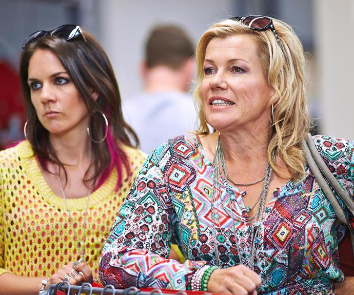 Robyn stars in hit Aussie series Upper Middle Bogan with Michala Banas.