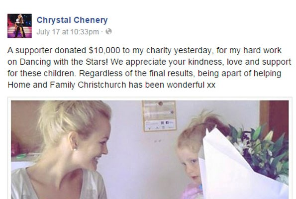 Chrystal wants to see attention turn back to all the great charity work the show has done