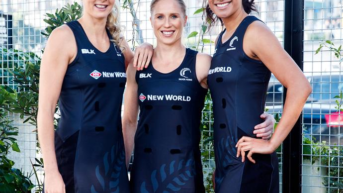 Silver Ferns stars and friends Maria Tutaia, Casey Kopua and Laura Langman reveal their World Cup little black netball dress.