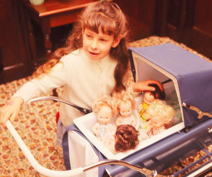 Older sister Leeann had her own set of quin dolls.
