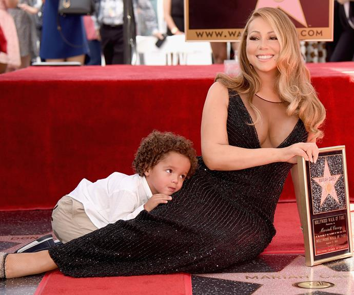 Hit singer Mariah Carey has just received a star on the Hollywood Walk of Fame.