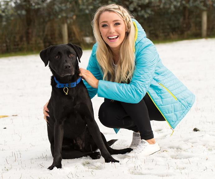 Alysha with one of her favourite males, her best boy Brax.